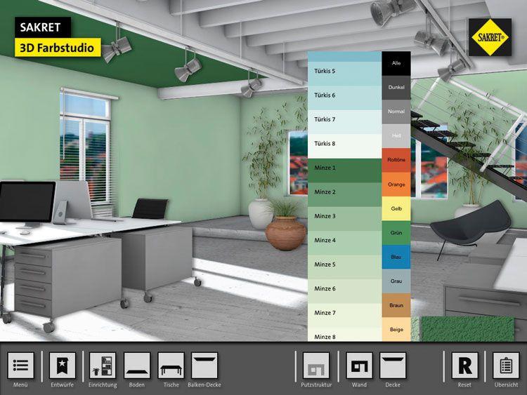 sakret 3d-farbtonstudio für dekorputze - ausbau düsseldorf